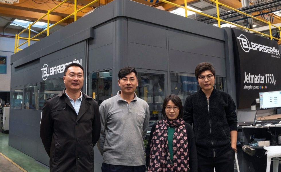 BARBERÁN instalará la primera impresora digital Jetmaster en China