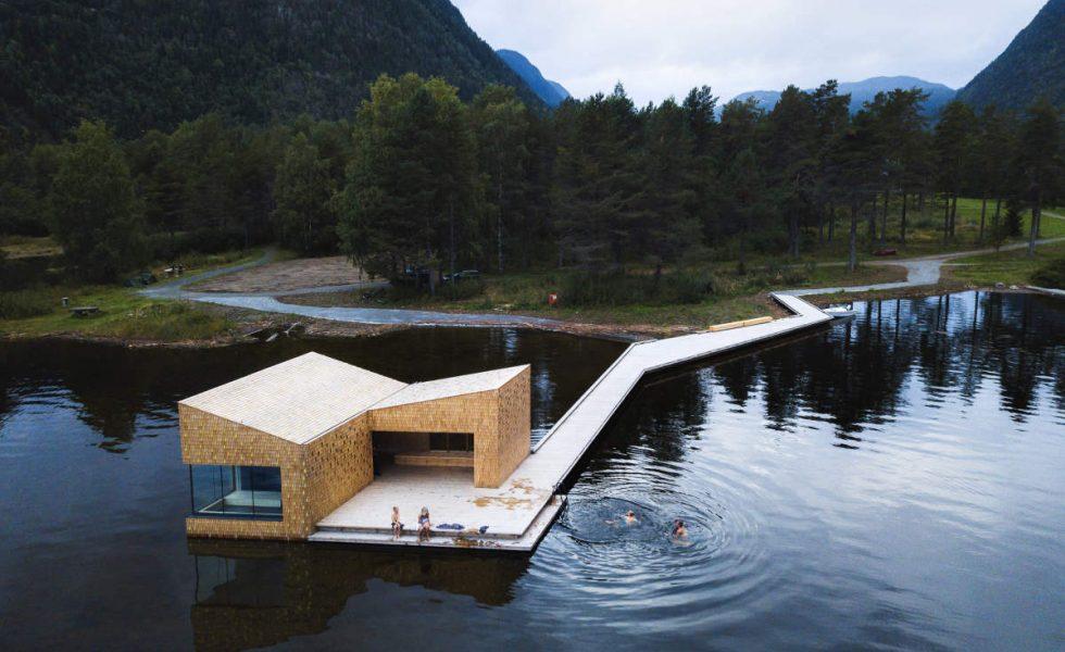 Soria Moria Sauna, un edificio de materiales naturales