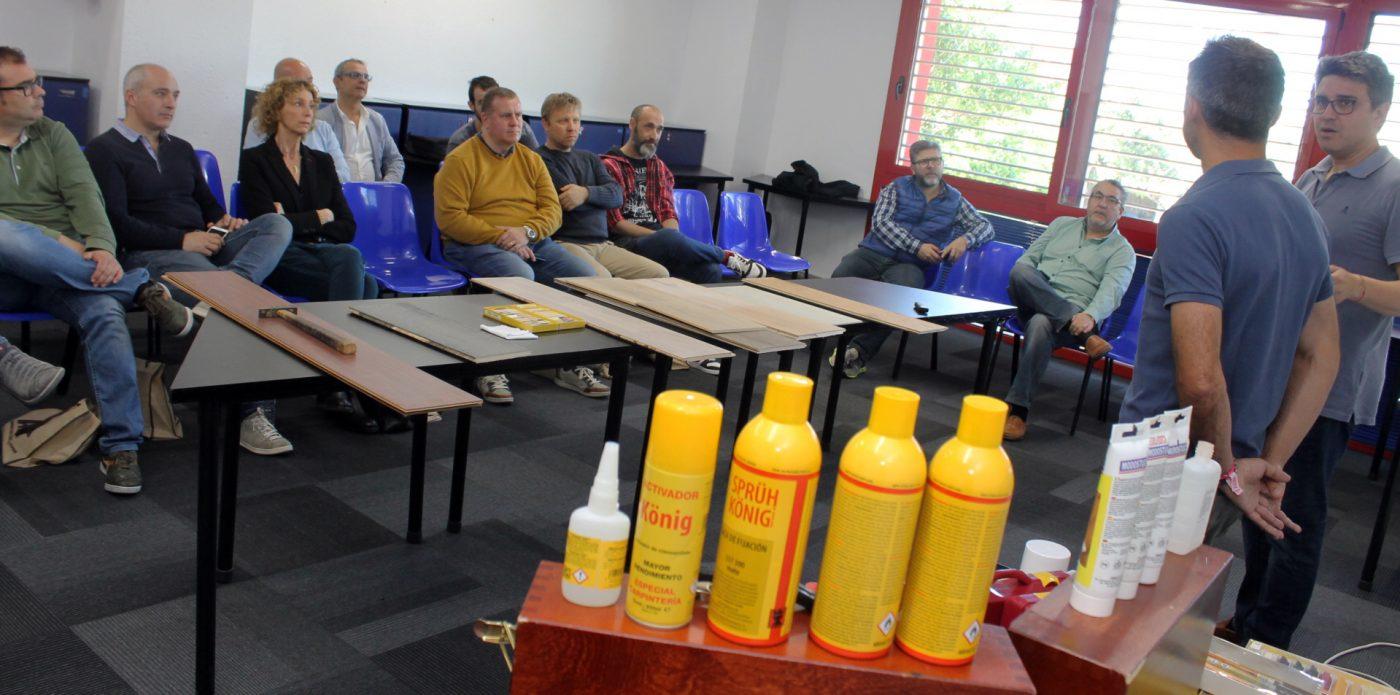KÖNIG ofrece a los Socios de ACIP una demostración de reparación de parquet