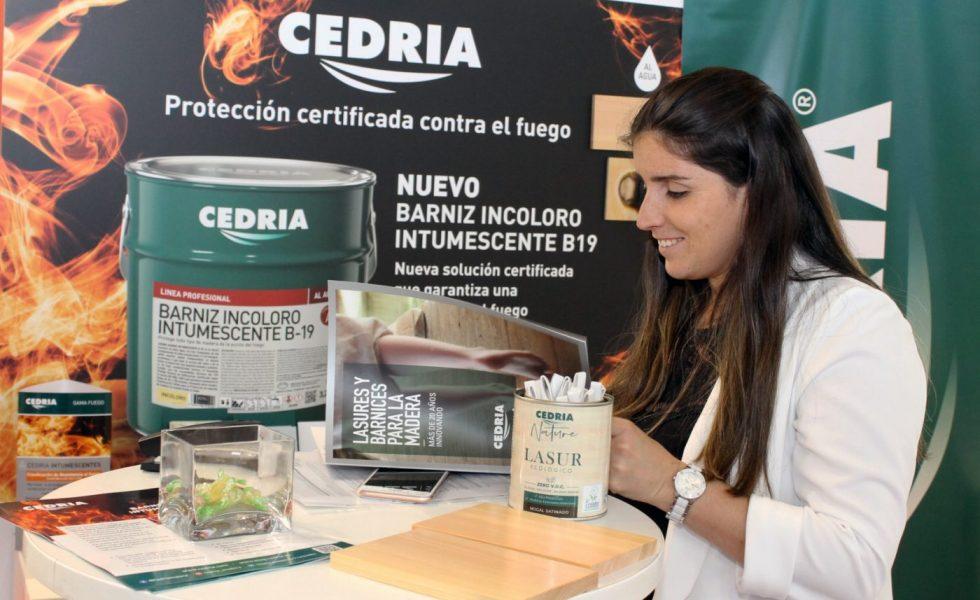 CEDRIA presenta en BB CONSTRUMAT su barniz incoloro intumescente B-19
