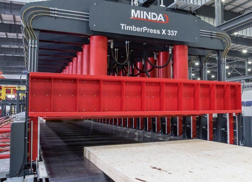 La nueva prensa para CLT TimberPress X de MINDA