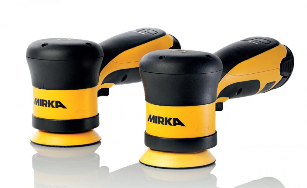Nuevas pulidoras inalámbricas Mirka® AROP-B y Mirka® ARP-B