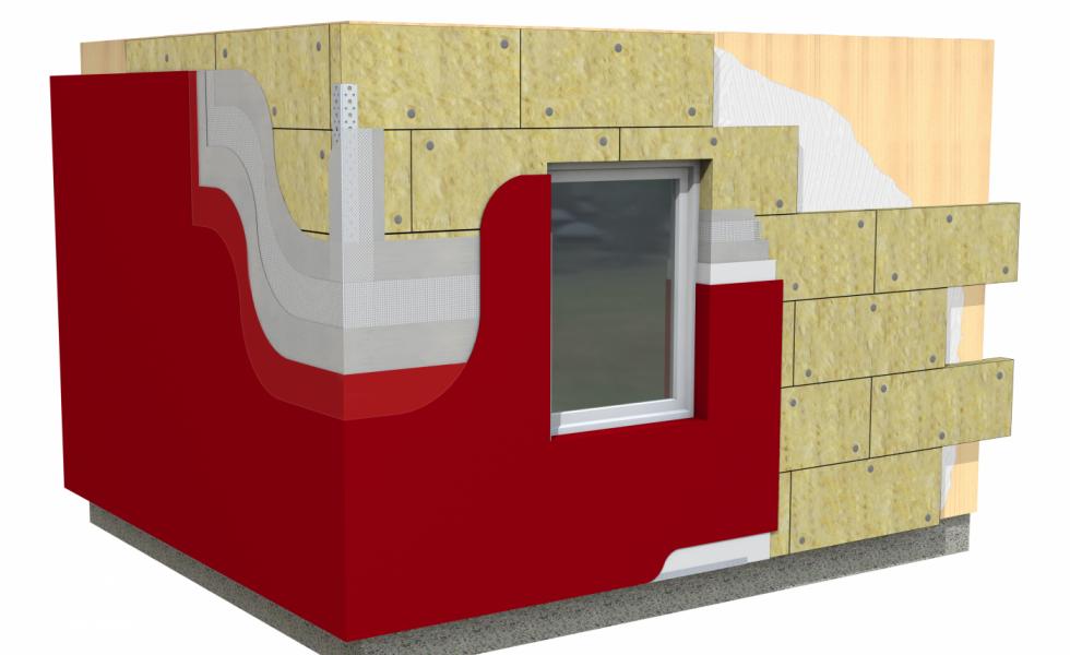 ROCKWOOL lanza un sistema de aislamiento térmico y acústico para fachadas tipo SATE soporte madera