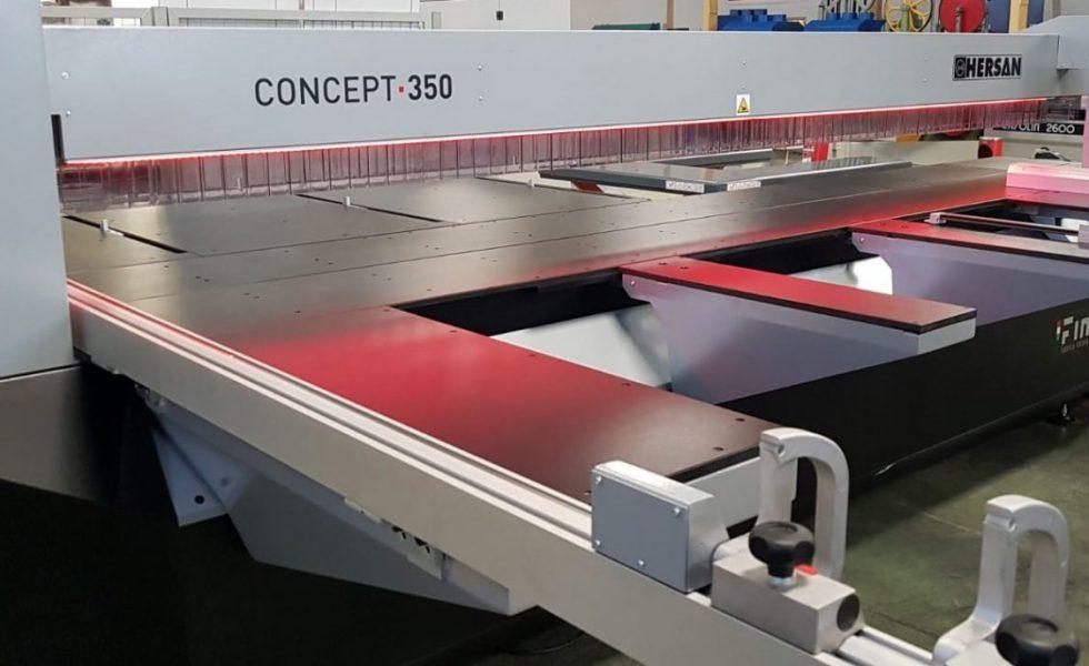 FIMAL incorpora novedades en su escuadradora seccionadora Concept 350 2.0