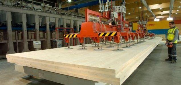 A toda velocidad la producción de CLT de STORA ENSO en Gruvön