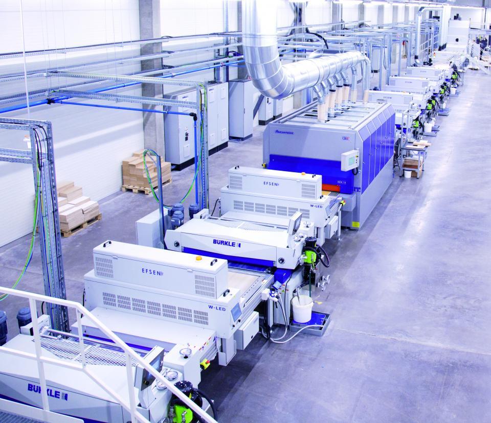 FREDA, el principal proveedor de IKEA en Europa, utiliza el curado UV LED en el acabado de muebles