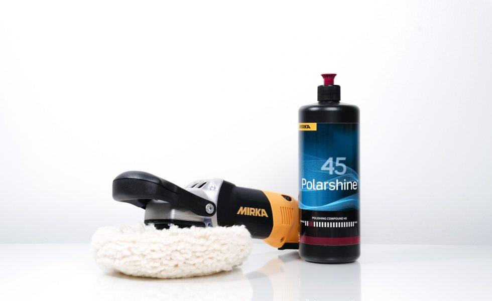 Potencia de corte y alto brillo con el nuevo Polarshine 45 de MIRKA