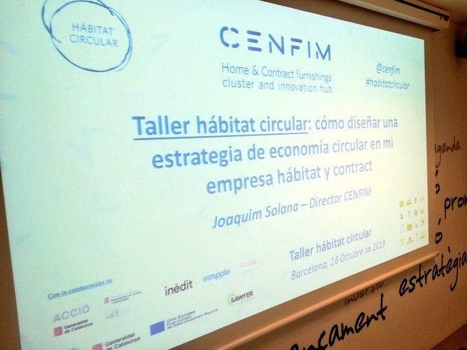 CENFIM organiza un taller de economía circular para empresas de hábitat y contract