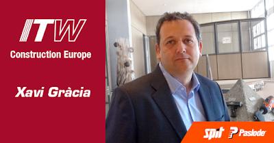 Xavi Gràcia nombrado presidente de ITW Construction Europe