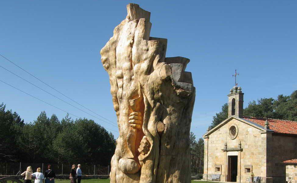 La talla de la Reina Juana llega a Madrid