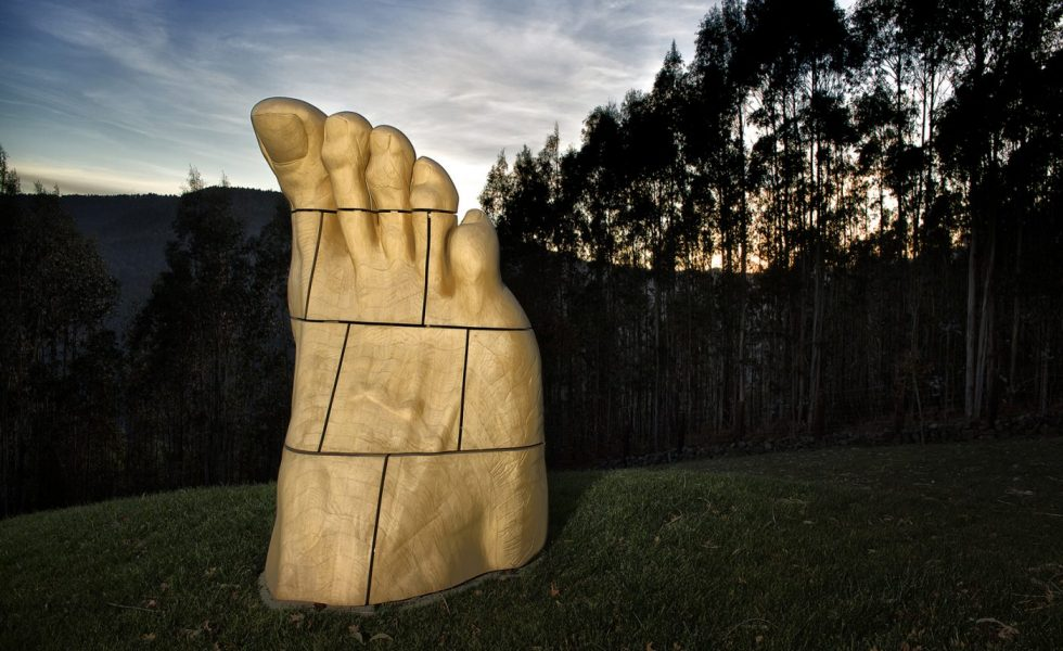 Madera de ACCOYA en una escultura de 750 kg y 22 piezas