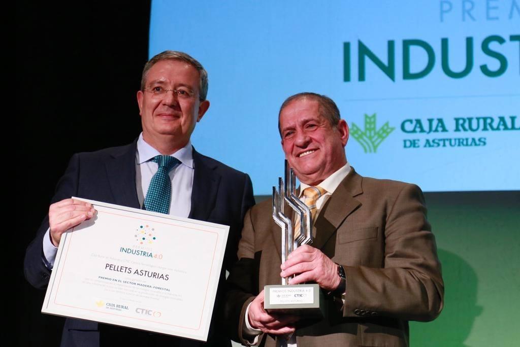PELLETS ASTURIAS recibe el premio Industria 4.0