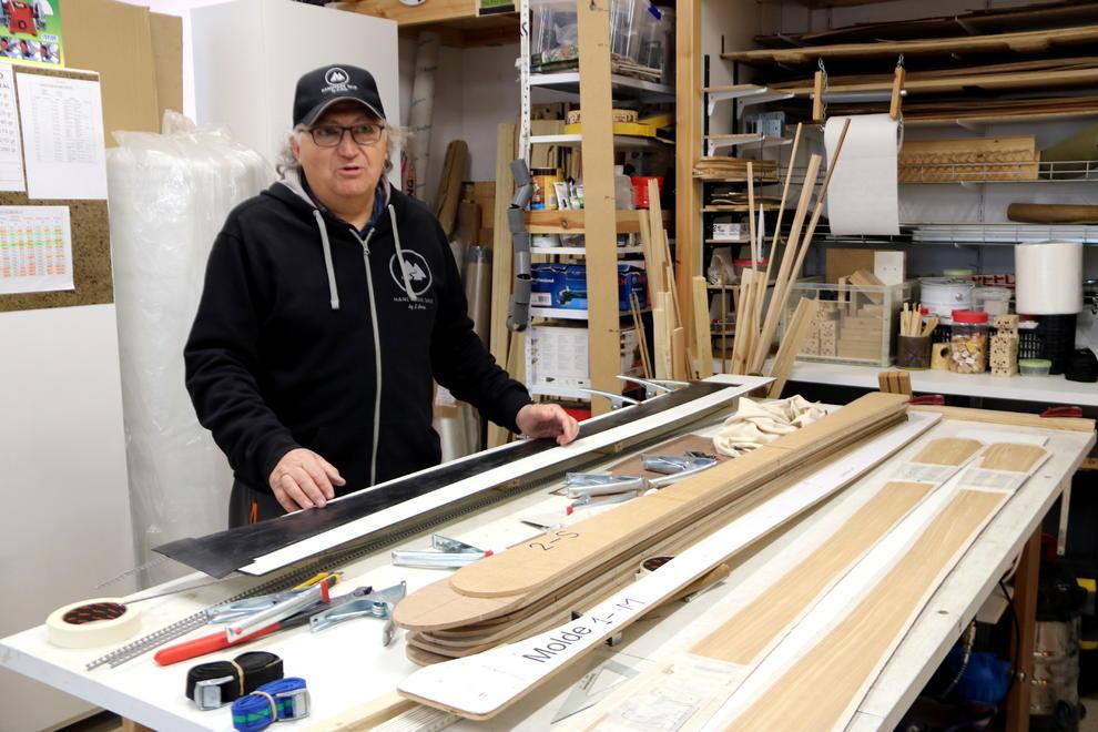 Esquís de madera personalizados