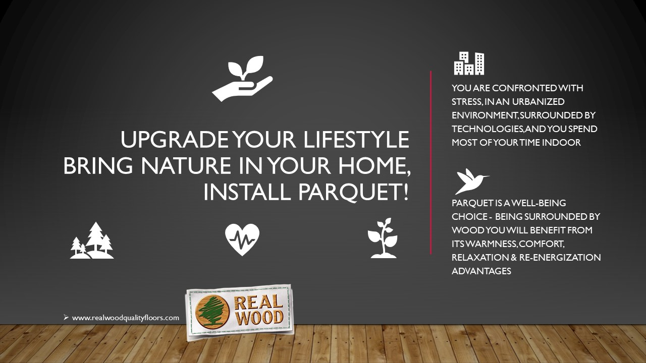Actualiza tu estilo de vida. Trae la naturaleza a tu hogar ¡Instala parquet!