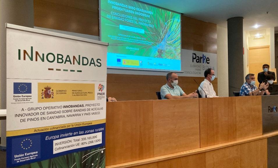El proyecto de sanidad forestal INNOBANDAS revela resultados muy positivos para frenar el avance de la banda roja y marrón