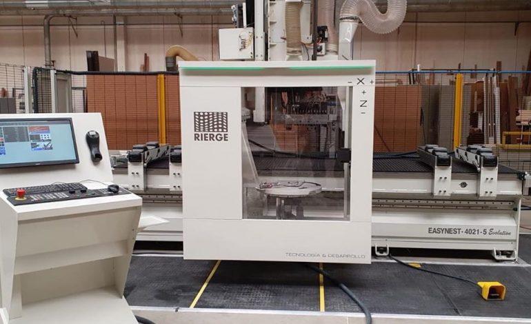 "RIERGE fabrica e instala un centro de mecanizado ""Easynest Evolution"" en CARPINTERIA RUTIA"