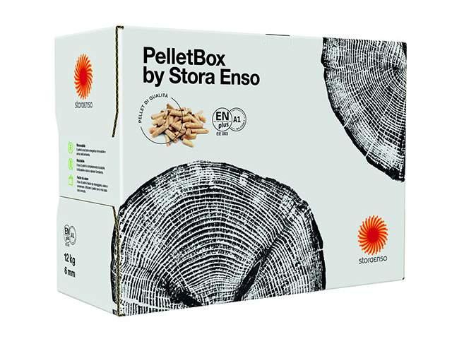 STORA ENSO presenta una caja de cartón como nuevo formato para los pellets de madera