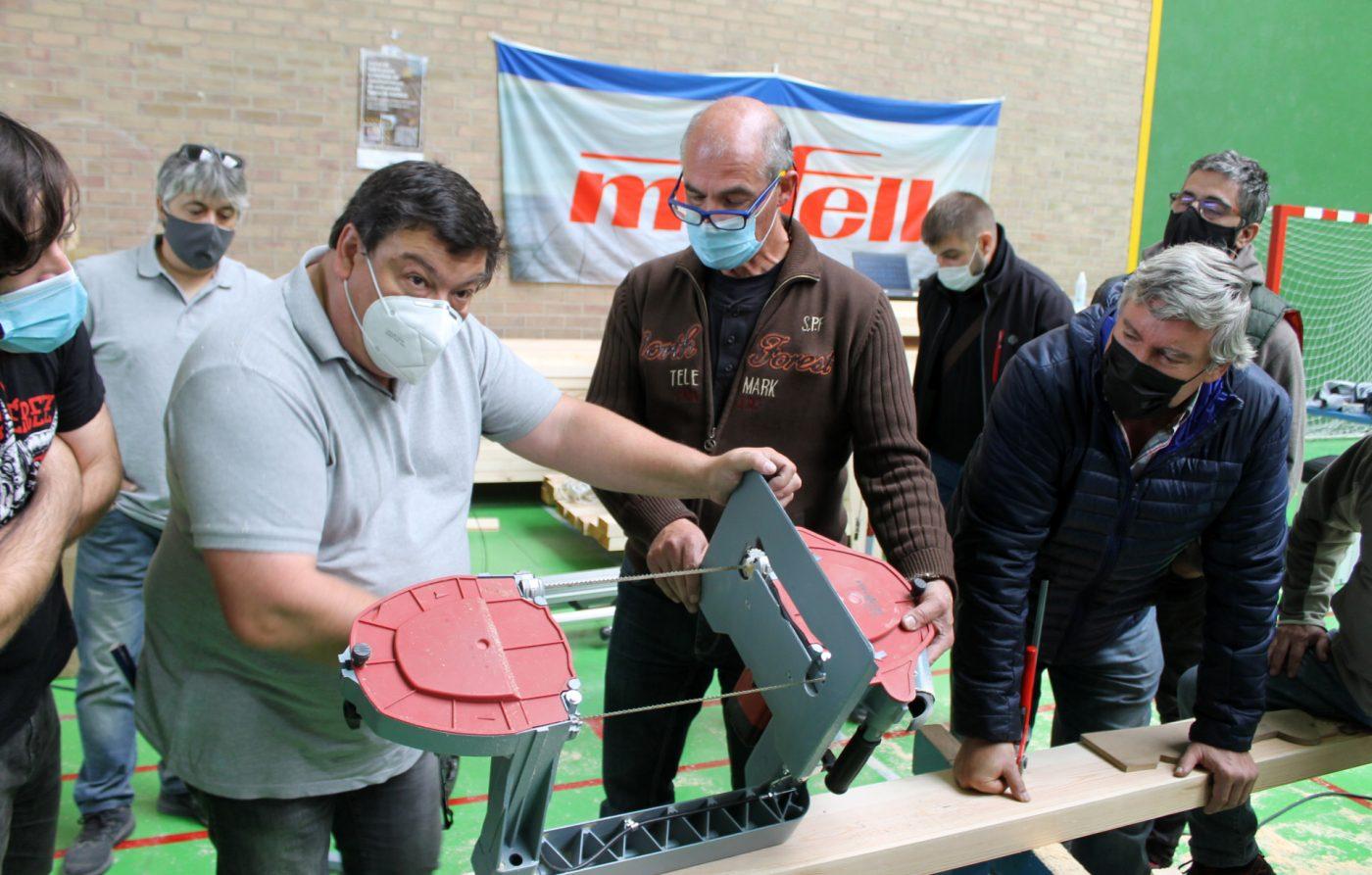 MAESMA exhibe las máquinas de MAFELL en el primer curso de CESEFOR sobre entramado ligero de madera