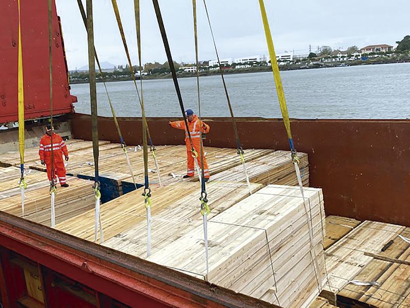 ERHARDT FRANCE carga en Bayona su segundo barco con destino a Senegal