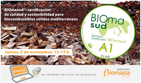"""AVEBIOM organiza el webinar """"BIOMASUD certificación de calidad y sostenibilidad"""""""