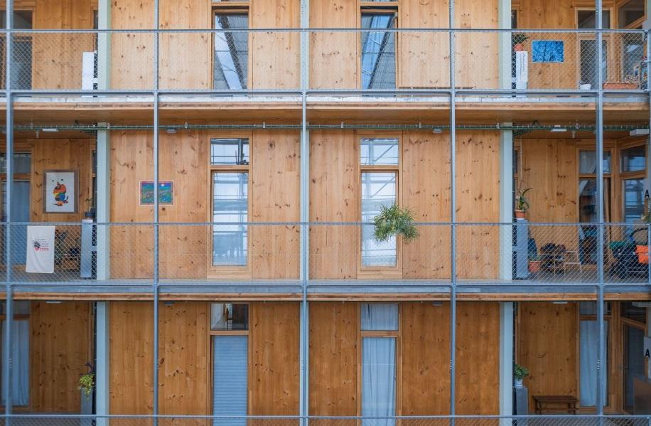 LA BORDA, el edificio construido con estructura de madera laminada más alto de España