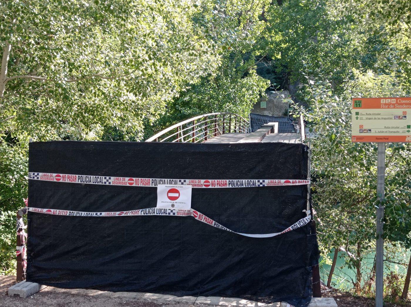 MADERAS DE CUENCA reparará la pasarela sobre el río Júcar en el paraje del Recreo Peral