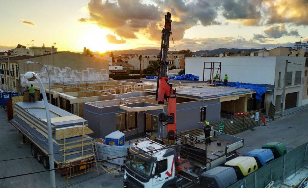 ARQUIMA construye el primer edificio plurifamiliar con estructura de madera de Baleares