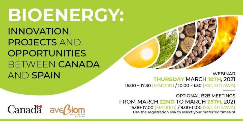 Innovación, proyectos y oportunidades en el sector de la bioenergía entre Canadá y España