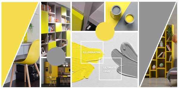 El gris y el amarillo son los colores del año según PANTONE