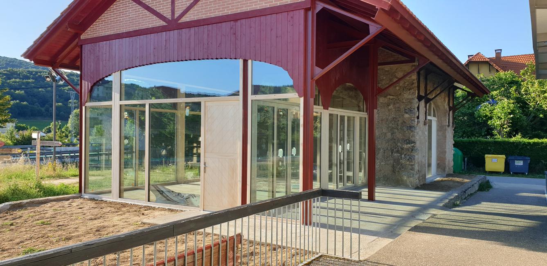 GAMIZ y VENTACLIM en la restauración de las cocheras del VASCO-NAVARRO en Antoñana