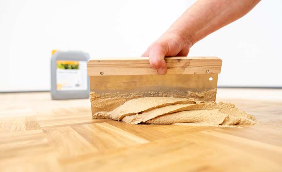 PALL-X FILLER: Relleno de juntas para suelos de madera, con fibra reforzada