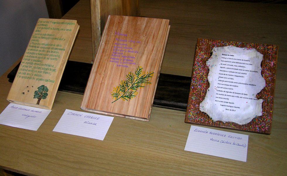 Agustín Bastón, el artesano con una biblioteca de libros de madera única en el mundo