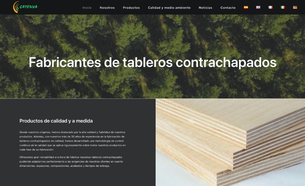 CATENVA renueva su página web